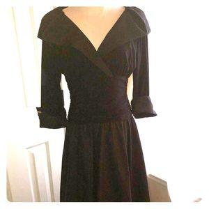 All black vintage style formal dress